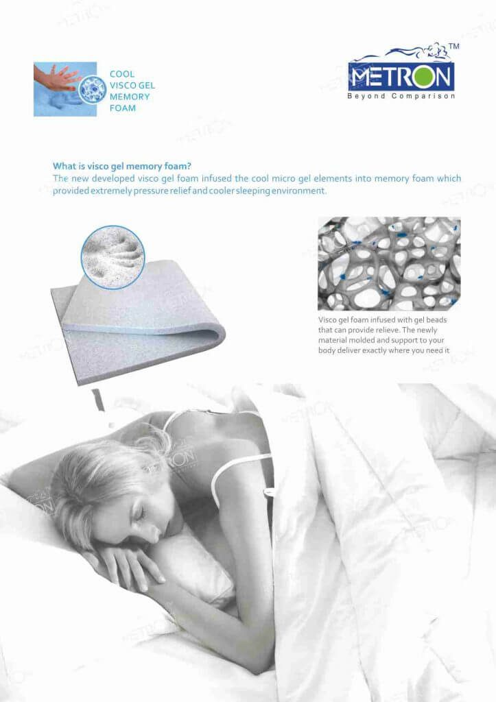 cool visco gel memory foam pillow